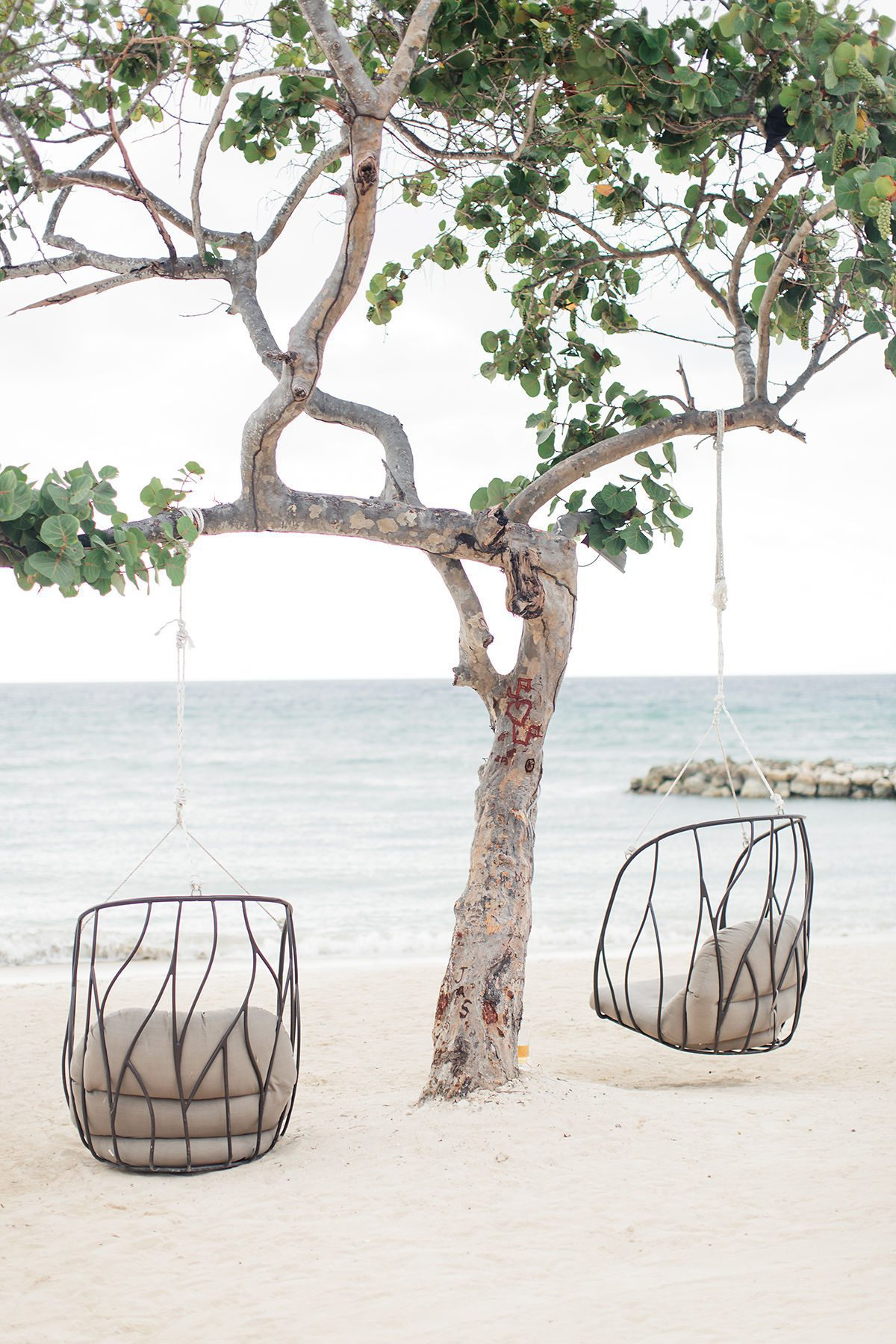 Wicker Chairs on the beach