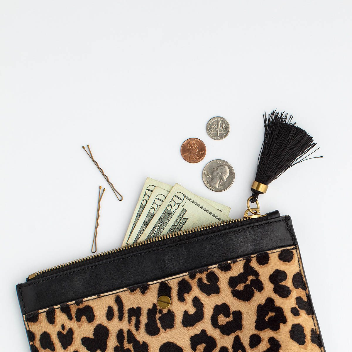 Leopard Wallet with Change